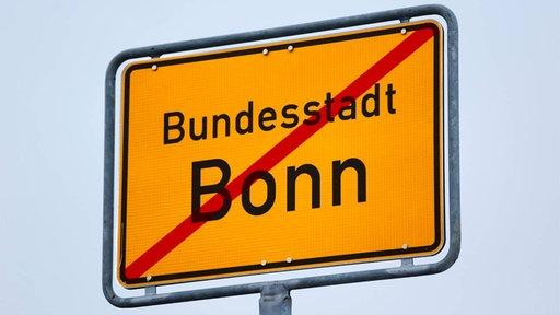 Ein Ortsausgangsschild von Bonn