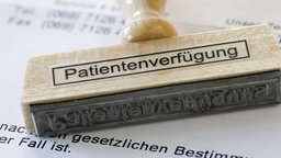 Stempel mit Aufschrift 'Patientenverfügung'