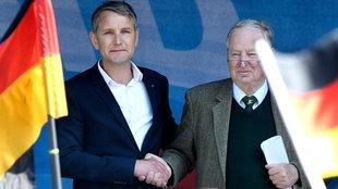 Bjoern Höcke und Alexander Gauland am 1. Mai 2019 in Erfurt