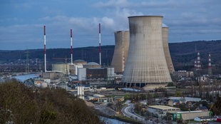 Das Kernkraftwerk Tihange in der belgischen Stadt Huy