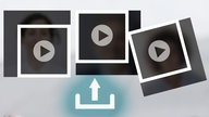 Montage: Upload Pictogramm, Videosymbole