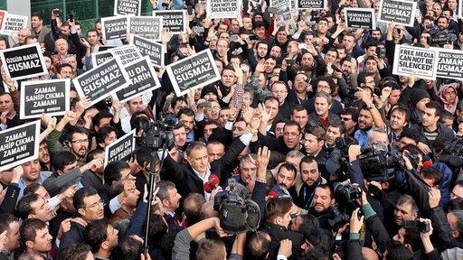 Demonstration der türkischen Gülen-Bewegung
