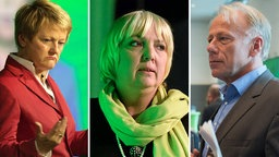 Renate Künast, Claudia Roth und Jürgen Trittin treten zurück