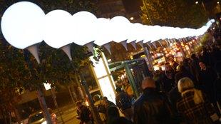 Lichtergrenze in Berlin