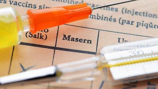 Masern in einem Impfausweis
