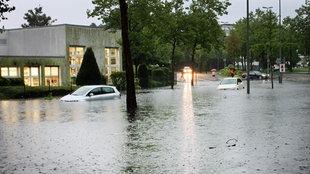 Überschwemmung in Münster im Jahr 2014