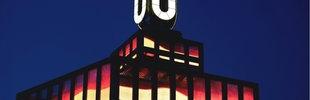 Das Dortmunder U beleuchtet, abends