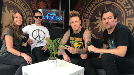 Papa Roach im Interview beim Summer Breeze 2018