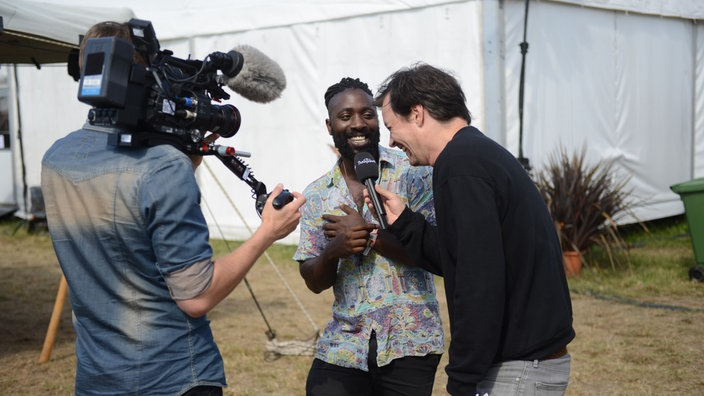 Kele von Bloc Party im Interview beim Highfield Festival 2016