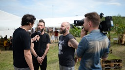 Caliban im Interview beim Highfield Festival 2016