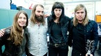 Band Of Skulls mit Rockpalast Moderatorin Conny Schiffbauer
