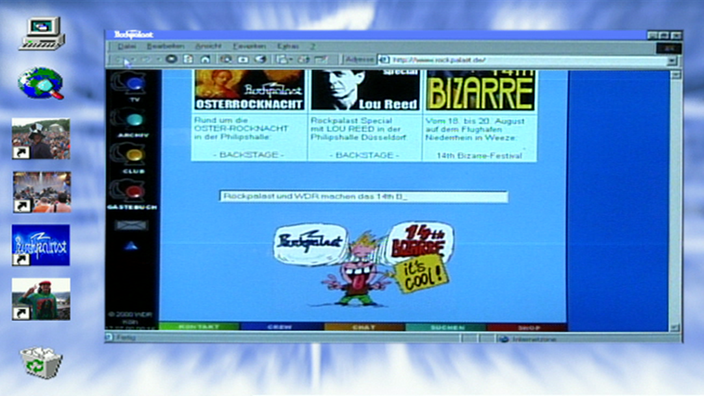 Die Rockpalast Website anno 2000