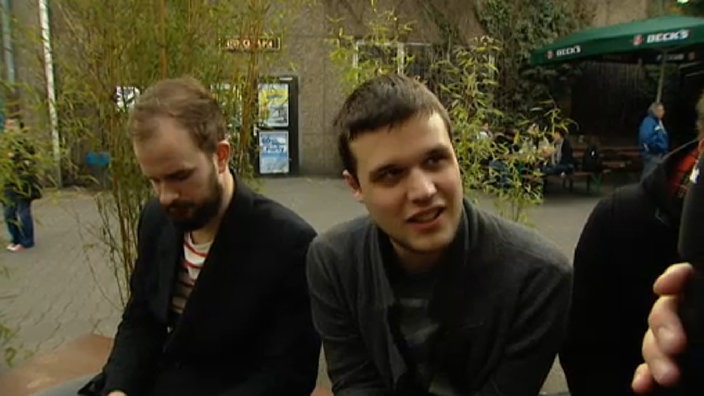 White Lies im Rockpalast-Interview in der Live Music Hall in Köln 2011