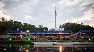 Open Air Kino im Westfalenpark Dortmund.