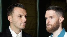 """Theo Hutchcraft und Adam Anderson von der Band """"Hurts"""""""