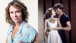 Montage: Jennifer Grey Portrait und Filmszene aus Dirty Dancing