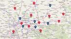 Die Karte zur Aktion NRW