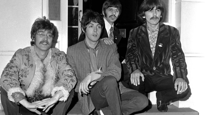 The Beatles 1967 (v.l. John Lennon, Paul McCartney, Ringo Starr, George Harrison)