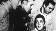 Jerry Lee Lewis, Carl Perkins, Elvis Presley und Johnny Cash