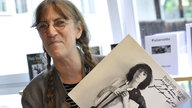 Patti Smith mit signierter LP 2010