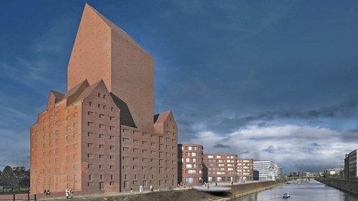 Das Landesarchiv in Duisburg (Modell)