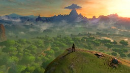"Eine Panorambild aus ""The Legend of Zelda: Breath of the Wild"""