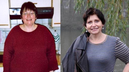 Frau Schmidt vor und nach der Diät