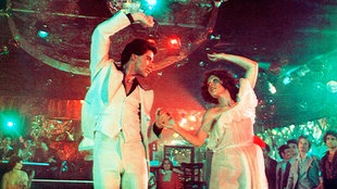 """Saturday Night Fever"" mit John Travolta and Karen Lynn Gorney (1977)"
