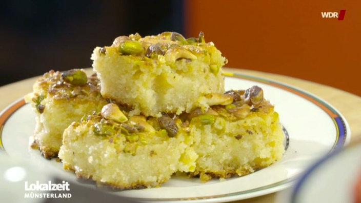 Video: Kuchen: Harissa, Grieskuchen Mit Pistazien Aus Syrien