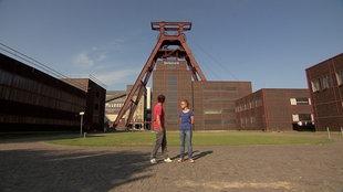 Esther und André vor der Zeche Zollverein in Essen