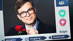 Ralph Caspers in einem Profil einer Dating-Plattform