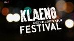 Das Logo des Klaeng Festivals 2014 vor unscharfen Lichtern.