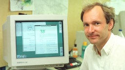 Tim Berners-Lee bei CERN in Genf