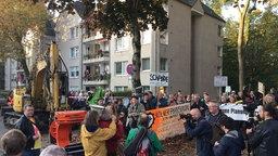 Demo gegen Baumfällaktion