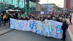 Fridays for Future-Demonstrierende in Münster