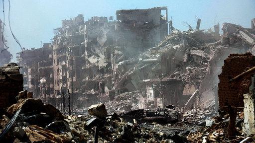 Zerstörung in Homs, Syrien