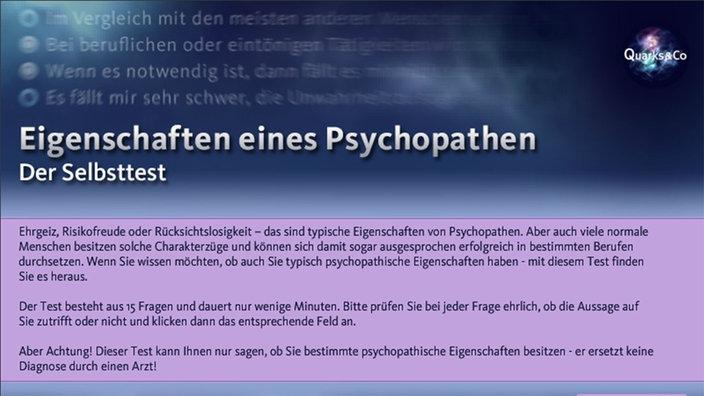 Selbsttest Psychopath