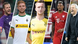 Collage: Thomas Tuchel, Jerome Boateng, Klaas-Jan Huntelaar, Christoph Kramer, Marco Reus