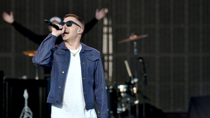 Macklemore live beim Capital One Jam Fest während des NCAA March Madness Music Festival 2017
