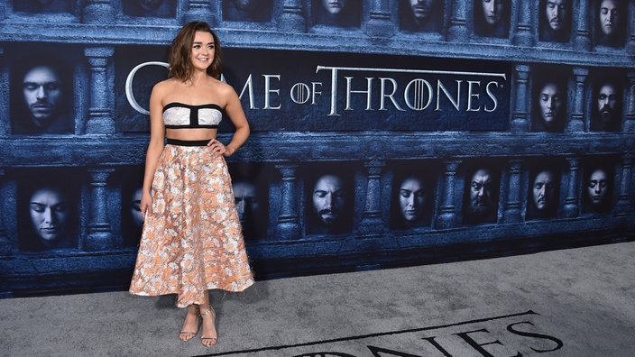 "Maisie Williams bei der Premiere der sechsten Staffel von ""Game Of Thrones"" im Chinese Theatre in Los Angeles"