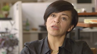 Anabel Hernández, Screenshot aus dem Interview mit 3Sat