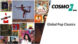 Collage aus verschiedenen Cover der Global Pop Classics