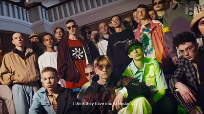 "Screenshot aus ""Inside Gosha Rubchinskiy's Post-Soviet Generation"""
