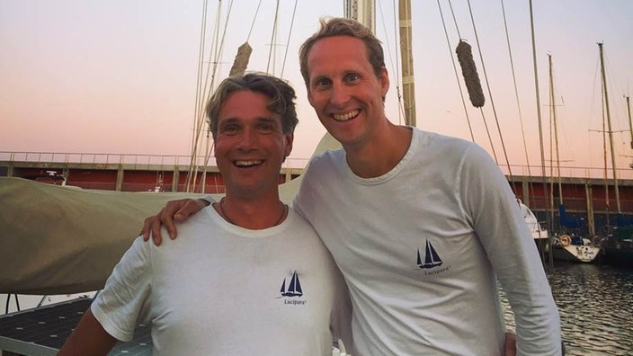 "Floris und Ivar vom Projekt ""sailors for sustainability""."