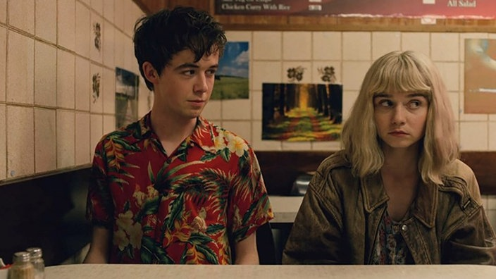 "Screenshot: ""End of the F*** World"""