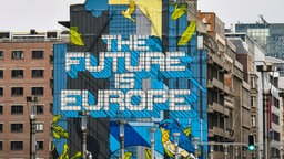 Grafitti an der Hauswand - The future is Europe