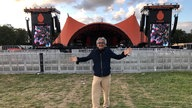 Francis Gay vor der Orange Stage - Roskilde Festival