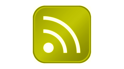 RSS-Feed-Symbol in Grün