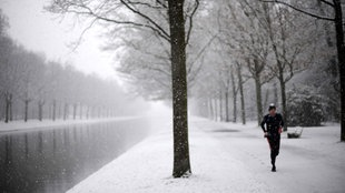 Jogger im Winter