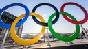 Olympische Ringe im Barra Olympic Parc,
